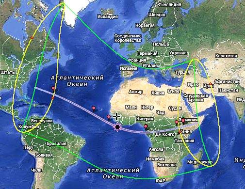 Схема затмения от 3 ноября 2013 года